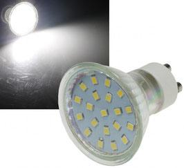 "LED Strahler GU10 ""X40 SMD"" 120°, 4000k, 300lm, 230V/3W, neutralweiß"