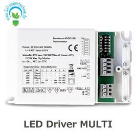 LED Driver MULTI 12V/24V / 350mA/500mA/700mA, dimmbar