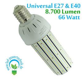 LED E27/E40 Universal Corn 66W, 360°, neutralweiss, 8.700lm,