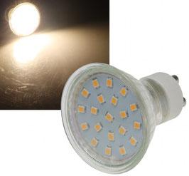 """LED Strahler GU10 """"X40 SMD"""" 120°, 3000k, 280lm, 230V/3W, warmweiß"""