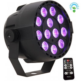 "LED RGB Disco Event Strahler 36W  ""3in1""  LEDs, Music Controlled, DMX, inkl. Fernbedienung"