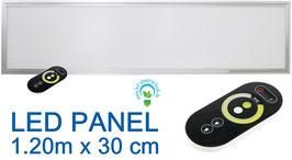 LED Panel Pro Colour 50W inkl. Controller & Fernbedienung / 30x120cm Lichtfarbe & Lumen per FB regelbar, 3.700 bis 4.000lm (je nach Farbtemperatur)
