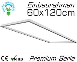 Einbaurahmen für alle 60x1200cm LED Panele geeignet für Gipskarton- & Deckenausschnitte aus weiß lackiertem Aluminium