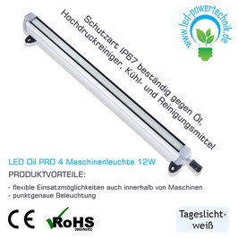 LED Oil PRO 4 Maschinenleuchte 12W | 24V | 400 mm | Öl-resistent | 1000 lm | 5500 - 6000K | IP67 |