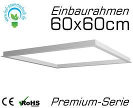 Einbaurahmen Premium für alle 60x60cm LED Panele geeignet für Gipskarton- & Deckenausschnitte aus weiß lackiertem Aluminium
