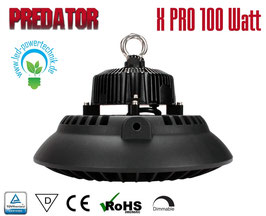 LED Hallenleuchte Predator 100W | 120° Abstrahlwinkel | 14.000 lm | 6000 K | IP65 |