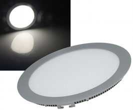LED Panel Alu - Grau rund 15W, 1200lm, 240mm, neutralweiß