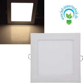 LED Licht-Panel 12W,  17X17cm  850 Lumen, 3000 Kelvin - warmweiß