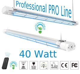 UVC - Desinfektionslampe - Professional PRO Line 40W - lineare Desinfektion´s Deckenleuchte - inkl. Bewegungsmelder & Fernbedienung / tötet Viren und Bakterien ab