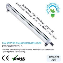 LED Oil PRO 8 Maschinenleuchte 20W | 24V | 800 mm | Öl-resistent | 2000 lm | 5500 - 6000K | IP67 |