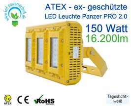 ATEX - ex-geschützte LED Leuchte Panzer PRO 2.0 | 150 Watt | 16.200 lm | tageslichtweiß - 6000 K | IP66 |