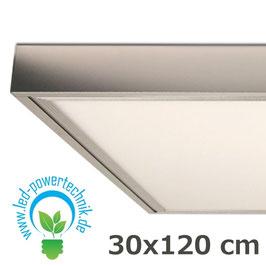 Aufbaurahmen für alle 30x120cm LED Panele aus silber lackiertem Aluminium