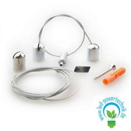 Seilabhängung Z04 für LAMP55, Länge bis 150cm, 2 Seile, inkl. Befestigungsmaterial