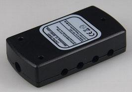 Niederspannungs-Verteiler 1x in 8x Out max 24W, Ein 5,5/2,1mm, Aus 3,5mm