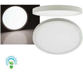 Aufbau LED Panel weiss rund 24W, 1.920lm, ØxH 30x3cm, neutralweiß