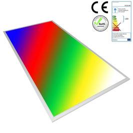LED RGB Panel 120x60cm, 48W, ultraflach, 105°, inkl. Netzteil, Rahmenfarbe silber