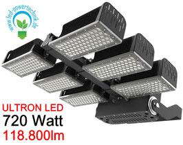 ULTRON LED Sportplatz & Universalleuchte 720W / 118.800lm / 3000K - 6500 K / IP66 /