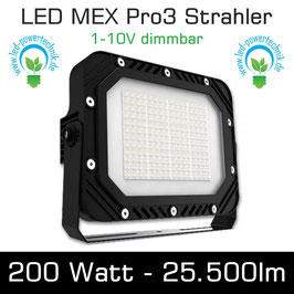 LED MEX Pro3 Strahler 200W 25.000lm 6000K tageslichtweiss IP65 1-10V dimmbar