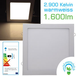 LED Panel 24W, 300x300mm, 2900K, warmweiß, 1.680 Lumen