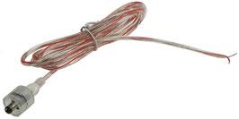 Anschlusskabel 1,5m lang, 5,5/2,1mm Stecker > 2x blank für den Anschluss an Trafos