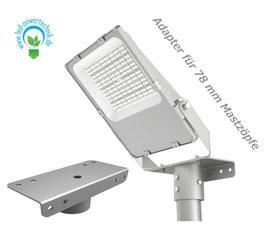MASTADAPTER für 78 mm Masten / für LED MEX Pro4 Strahler