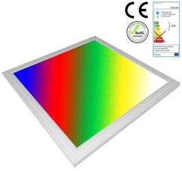 LED RGB Panel 30x30cm, 8W, ultraflach, 105°, inkl. Netzteil, Rahmenfarbe silber