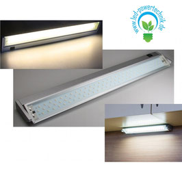 LED Unterbauleuchte V200 58cm 90 LEDs, 6W, 3000K, 500lm, 230V,silber