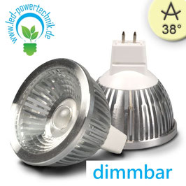 MR16 LED Strahler 5,5W COB, 38° warmweiss, dimmbar