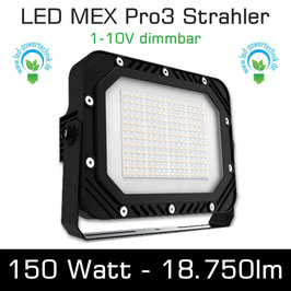 LED MEX Pro3 Strahler 150W 18.750lm 6000K tageslichtweiss IP65 1-10V dimmbar