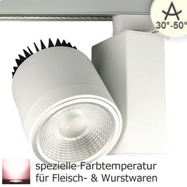 3-PH Schienen-Strahler Fresh Meat Light, 40W, 30°-50°, weiss matt