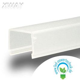 Abdeckung eckig , milky für Profil XWAY , L: 2000mm