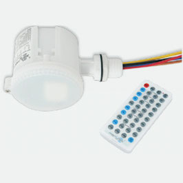 02 Mikrowellen-Bewegungssensor-Lichtschalter, AC 120V-277V, mit Fernbedienung