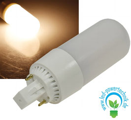 LED G24 HIGH LUMEN Leuchtmittel, 8 Watt, 630lm, warmweiss
