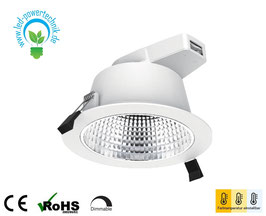 LED Downlight 172mm | 3000/4000/5700 K einstellbar | 18W | 1700 lm | dimmbar | IP54 |