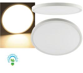 Aufbau LED Panel weiss rund 36W, 2.900lm, ØxH 40x3cm, warmweiß