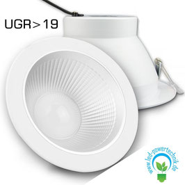 LED Eagle-Two - Shop-Einbaustrahler, 30 Watt, 2600lm, UGR>19, 3000K warmweiss