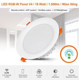 LED RGB-W Panel V4 / 18 Watt / rund / 1.500lm / Wlan fähig