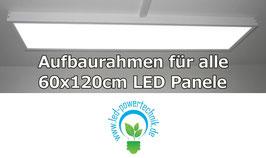 Aufbaurahmen für alle 60x120cm LED Panele aus weiß lackiertem Aluminium