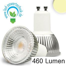 GU10 LED Strahler 6W GLAS-COB , 70° warmweiss, dimmbar