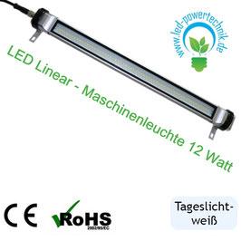 LED Linear - Maschinenleuchte 12 Watt - IP65 | 24V | schlanke Einbauleuchte | 1.000 lm | 5700 Kelvin tageslichtweiß