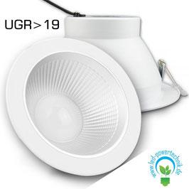 LED Eagle-Two - Shop-Einbaustrahler, 30 Watt, 2600lm, UGR>19, 4000K neutralweiss