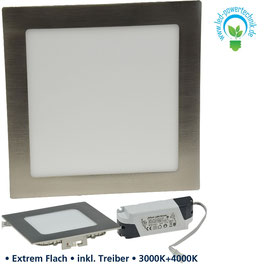 LED Panel Two Color 26W,  225x225mm, 1.400lm warmweiss & neutralweiss wählbar, dimmbar