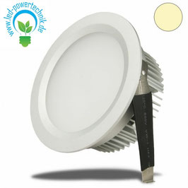 LED Downlight, 9W, diffuse, weiss, warmweiss