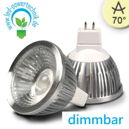 MR16 LED Strahler 5,5W COB, 70° warmweiss, dimmbar