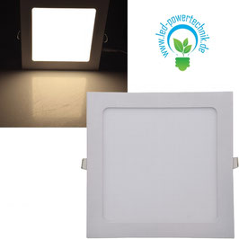 LED Licht-Panel 18W,  22x22cm  1300 Lumen, 3000 Kelvin - warmweiß