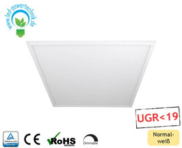 LED Panel 62x62cm, 40W, 4000K neutralweiss, 4.400 lm, dimmbar UGR<19, ultraflach, inkl. Netzteil, Rahmen weiß