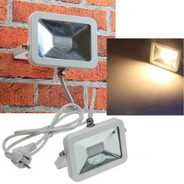 LED-Fluter SlimLine 10W, IP44, 760 Lumen, 3000K, warmweiß