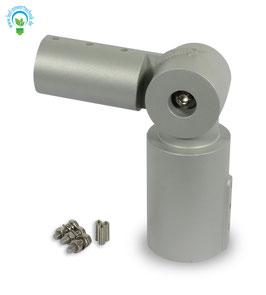 Mastadapter 60-68mm Leuchtendurchmesser, Winkel frei einstellbar für Straßenleuchte 30, 60 und 100 Watt