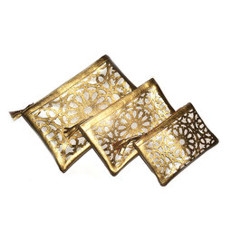 Pochettes Zellij, gold