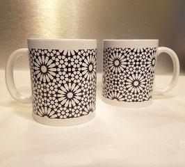 Mugs en céramique Zellij, noir